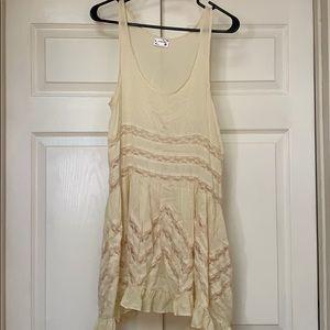 free people yellow/off white dress!